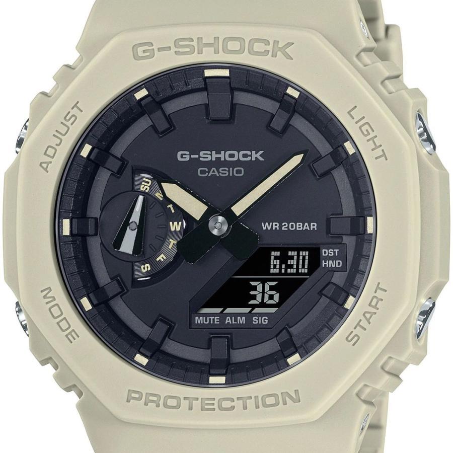 G-SHOCK ジーショック GA-2100-5AJF オクタゴン 八角形 カーボンコアガード構造 ベージュ×ブラック メンズ 腕時計 CASIO カシオ|tokei-akashiya|02
