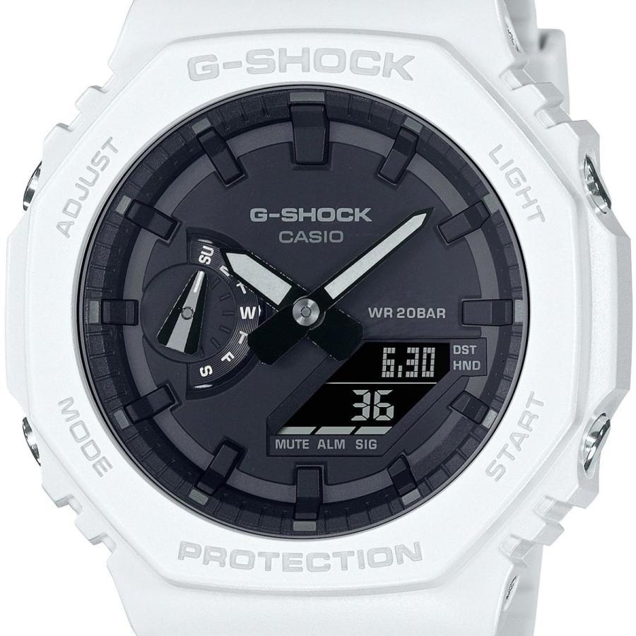G-SHOCK ジーショック GA-2100-7AJF オクタゴン 八角形 カーボンコアガード構造 ホワイト×ブラック メンズ 腕時計 CASIO カシオ|tokei-akashiya|02