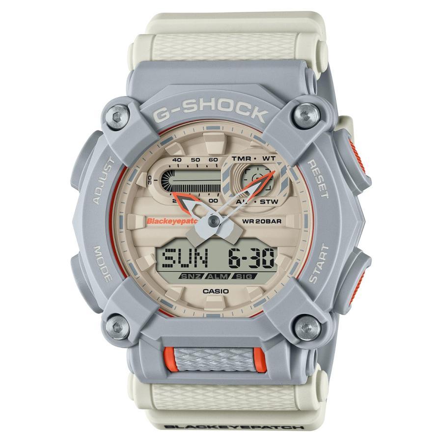 G-SHOCK ジーショック GA-900BEP-8AJR ブラックアイパッチ BlackEyePatch コラボモデル ライトグレー×ホワイト×オレンジ 腕時計 CASIO カシオ tokei-akashiya