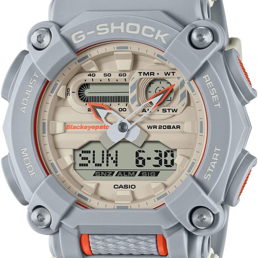 G-SHOCK ジーショック GA-900BEP-8AJR ブラックアイパッチ BlackEyePatch コラボモデル ライトグレー×ホワイト×オレンジ 腕時計 CASIO カシオ tokei-akashiya 02