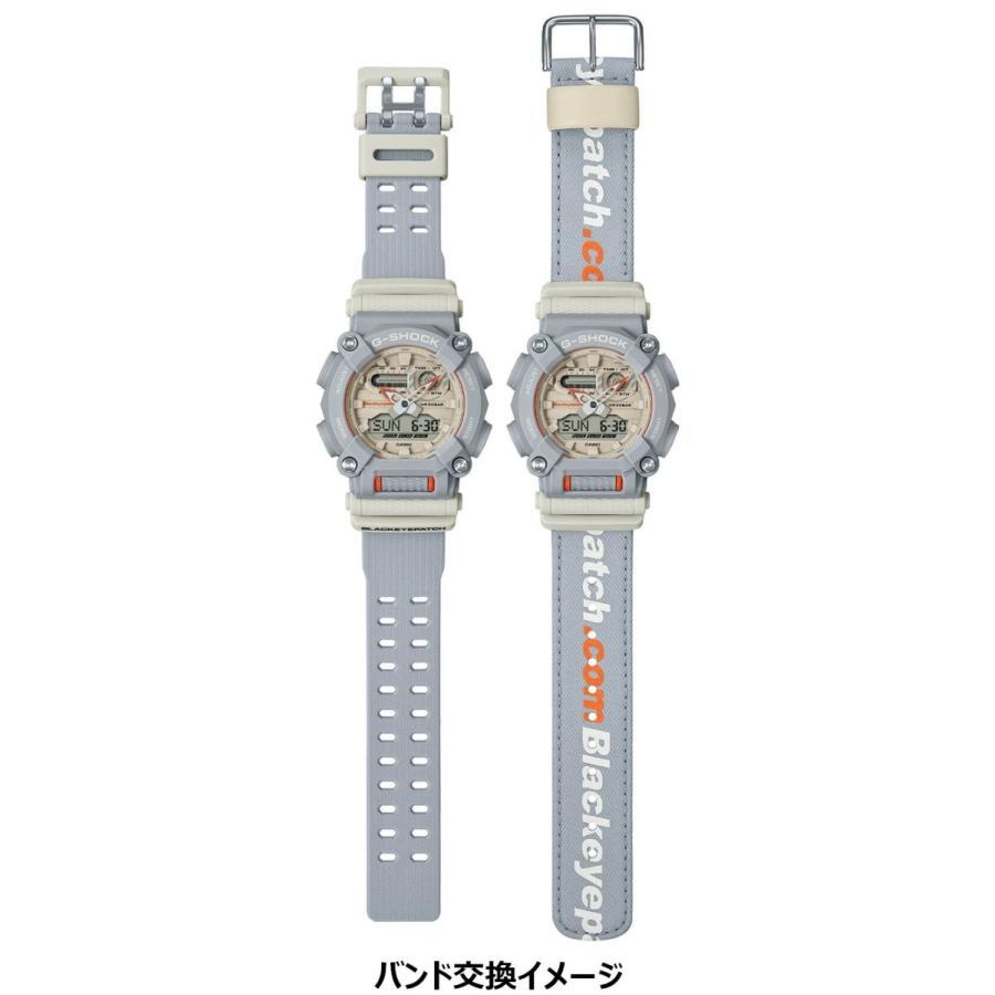 G-SHOCK ジーショック GA-900BEP-8AJR ブラックアイパッチ BlackEyePatch コラボモデル ライトグレー×ホワイト×オレンジ 腕時計 CASIO カシオ tokei-akashiya 11