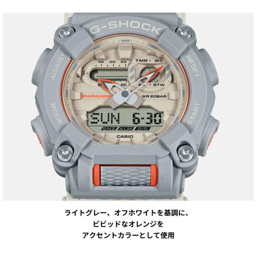 G-SHOCK ジーショック GA-900BEP-8AJR ブラックアイパッチ BlackEyePatch コラボモデル ライトグレー×ホワイト×オレンジ 腕時計 CASIO カシオ tokei-akashiya 06