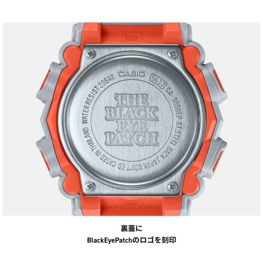 G-SHOCK ジーショック GA-900BEP-8AJR ブラックアイパッチ BlackEyePatch コラボモデル ライトグレー×ホワイト×オレンジ 腕時計 CASIO カシオ tokei-akashiya 07