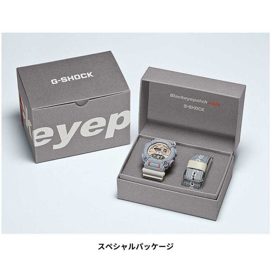 G-SHOCK ジーショック GA-900BEP-8AJR ブラックアイパッチ BlackEyePatch コラボモデル ライトグレー×ホワイト×オレンジ 腕時計 CASIO カシオ tokei-akashiya 09