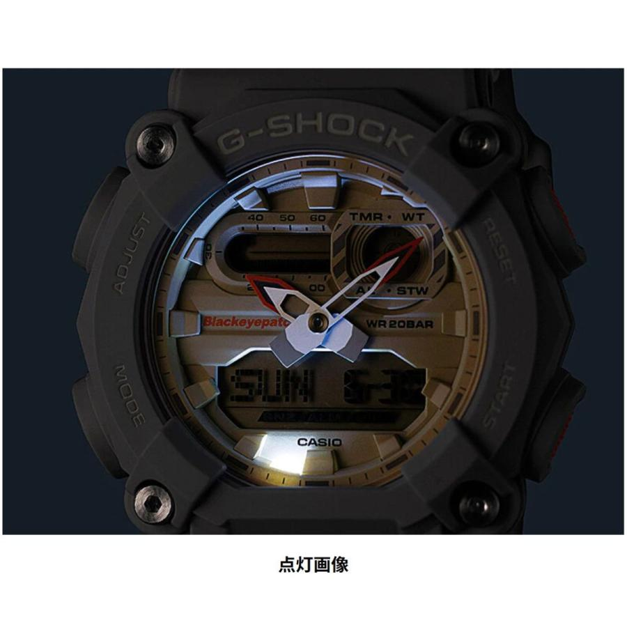 G-SHOCK ジーショック GA-900BEP-8AJR ブラックアイパッチ BlackEyePatch コラボモデル ライトグレー×ホワイト×オレンジ 腕時計 CASIO カシオ tokei-akashiya 10