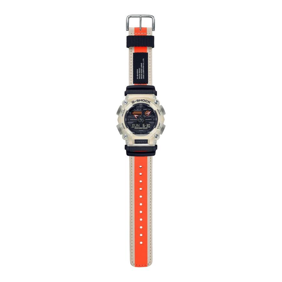 G-SHOCK ジーショック GA-900TS-4AJF 半透明ベゼル ナイロンバンド ホワイト×ブラック×オレンジ 腕時計 CASIO カシオ|tokei-akashiya|03