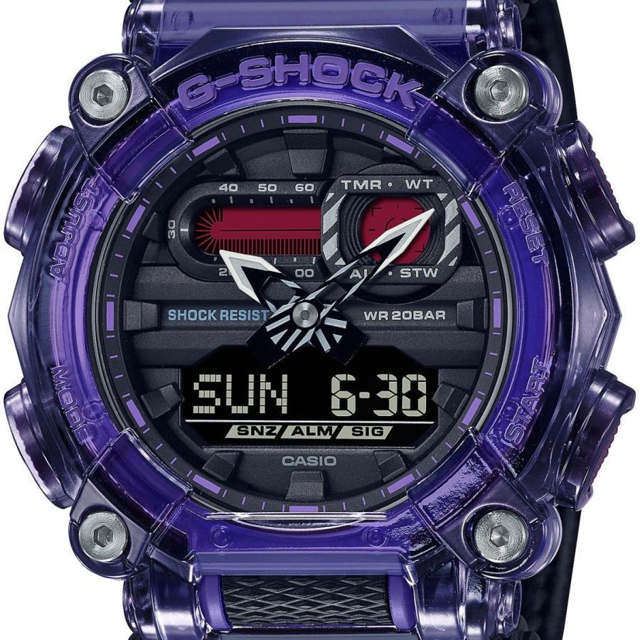 G-SHOCK ジーショック GA-900TS-6AJF 半透明ベゼル ナイロンバンド パープル×ブラック×グレー 腕時計 CASIO カシオ|tokei-akashiya|02