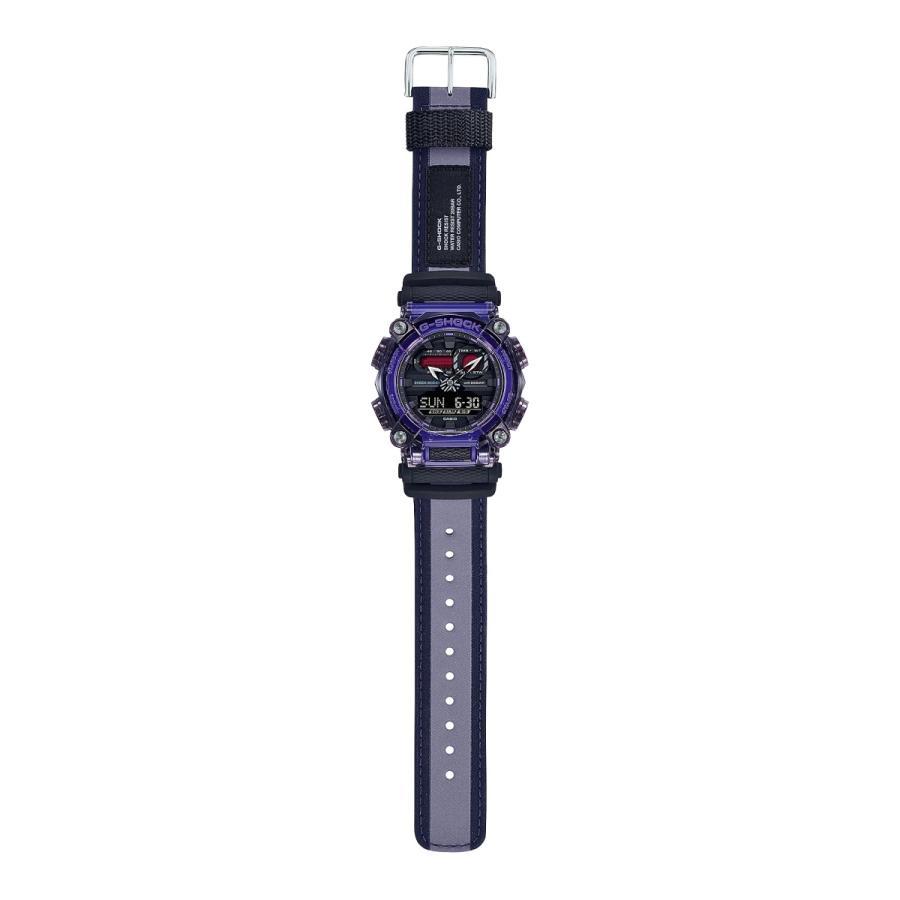 G-SHOCK ジーショック GA-900TS-6AJF 半透明ベゼル ナイロンバンド パープル×ブラック×グレー 腕時計 CASIO カシオ|tokei-akashiya|03