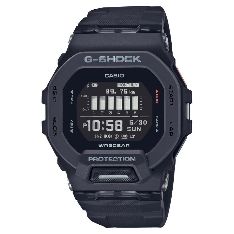G-SHOCK ジーショック GBD-200-1JF ジー・スクワッド G-SQUAD ランニング・トレーニングウオッチ Bluetooth スマートフォン連携 腕時計 ブラック CASIO カシオ|tokei-akashiya