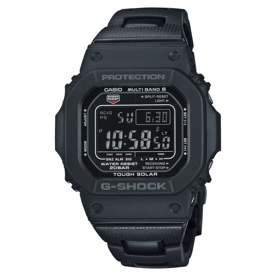 G-SHOCK ジーショック GW-M5610UBC-1JF 電波ソーラー デジタル表示 ブラック 反転液晶 コンポジットバンド 腕時計 CASIO カシオ tokei-akashiya