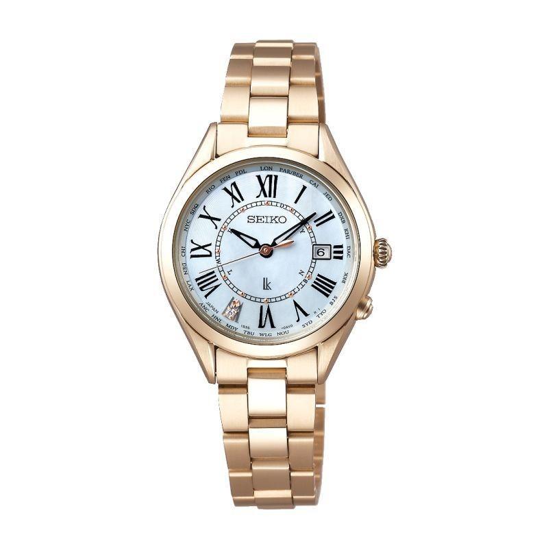 激安超安値 SEIKO セイコー セイコー LUKIA ルキア SSQV068 レディゴールド Lady ワールドタイム Gold SSQV068 ソーラー電波時計 ワールドタイム チタン 女性用腕時計, 翠豊園:de85dc20 --- airmodconsu.dominiotemporario.com