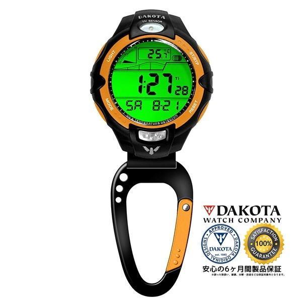 DAKOTA ダコタ 7546-6 紫外線センサー/温度計 クリップウオッチ 正規品 アウトドア用時計
