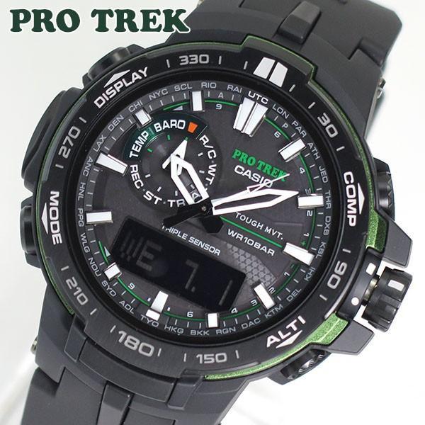 ebd5ef6e55 CASIO カシオ PRO TREK プロトレック メンズ 腕時計 時計 電波 ソーラー PRW-6000Y-1A ...