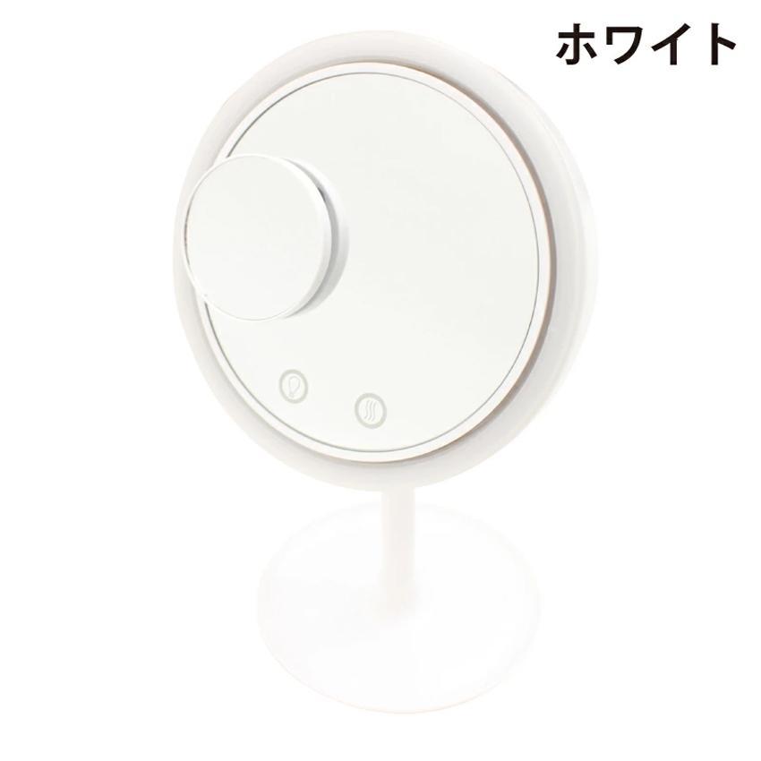 LEDライト ミラー 拡大鏡 ファン メイクアップミラーファン 静音ファン スタンドミラー メイク 曇り防止 自在調節 化粧鏡 拡大鏡 LED 扇風機 卓上|toki|04