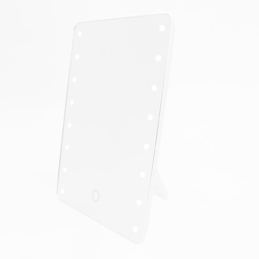 LED ビューティー ミラー デスク 化粧鏡 女優ミラー ハリウッドミラー スタンドミラー メイクアップ かわいい 高級感 人気 16LED|toki|02