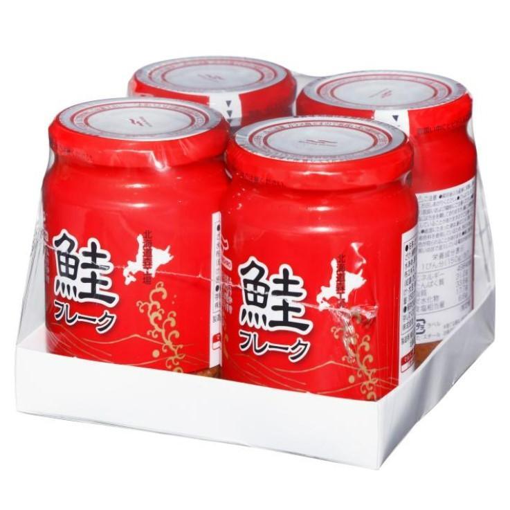 送料無料 マルハニチロ 鮭フレーク 瓶詰 150g×4 コストコ 579247 さけフレーク しゃけ マルハ 北海道生産 白鮭 ふりかけ おにぎり|tokimekiya777