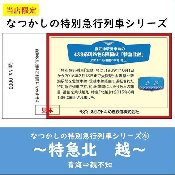 【記念乗車券セット】なつかしの特別急行列車シリーズ|tokitetsu-official|09
