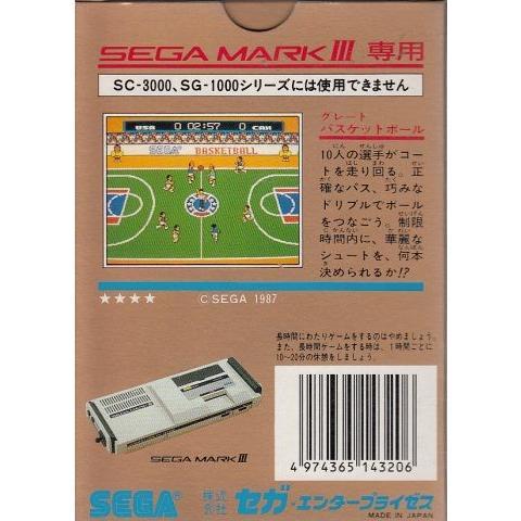 セガ マークIII専用 グレートバスケットボール :4974365-143206 ...