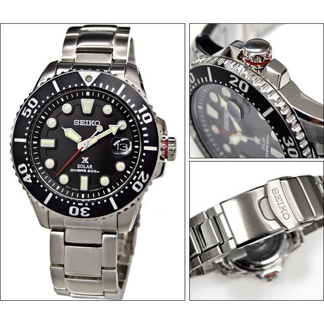 【セール】SEIKO(セイコー) SNE551P1(SNE437P1同型)メンズ腕時計 プロスペックス ソーラーダイバーズウォッチ ブラック 200m防水 tokizen 03