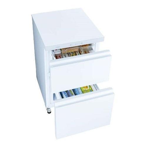 アクア AQF-GD10J-W(クリスタルホワイト) 冷凍庫 2段引き出しで100L tokka