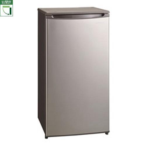 【設置+リサイクル】三ツ星貿易 SKM85F(シルバーグレー) 1ドア冷凍庫 右開き 85L