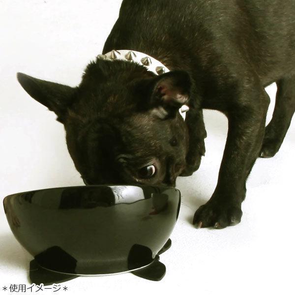 ハリオ フレンチブル専用フードボウル BUHIプレ ブラック 滑り止めシリコンマット付き ワンプレ ブヒプレ フレンチブルドッグ 陶器 食器|tokoton-dogfood|05