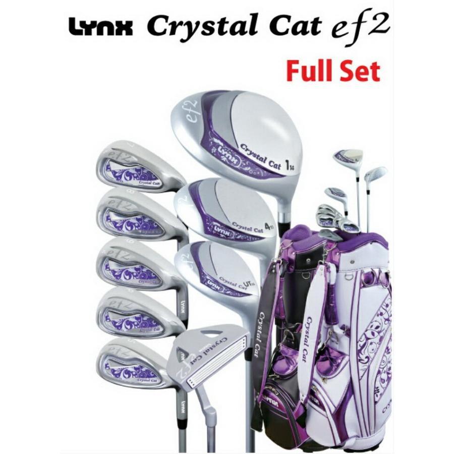 Lynx/リンクス Crystal Cat ef2 クリスタルキャット エフ2 フルセット 9本セット (1W・4W・UT・7I・8I・9I・PW・SW・PT・キャディバッグ)