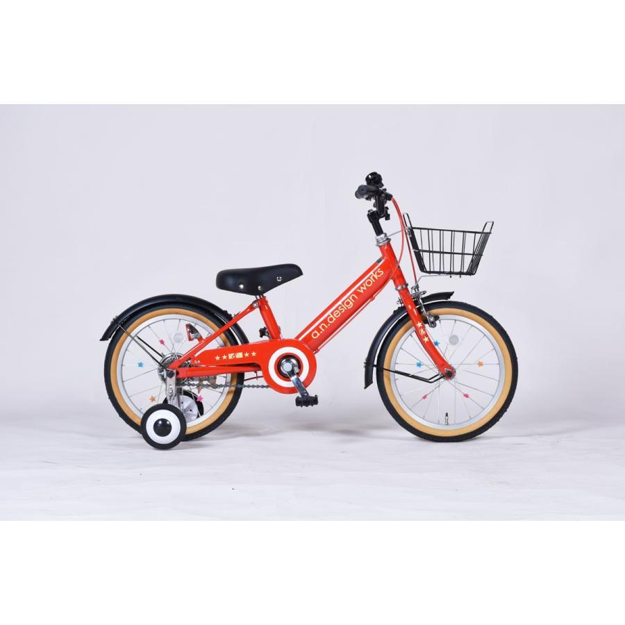 """特大クーポン a.n.design works Frere ν フレール ニユ """"RxB""""レッドxブラック カスタム 16インチ 子供自転車 幼児 カンタン組立 カスタムバイク"""