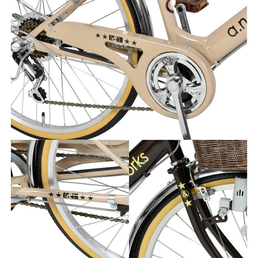 子供用 自転車 22インチ 本体 小学生 男の子 女の子 変速 125~145cm 6歳 7歳 8歳 9歳 10歳 11歳 お客様組立 アウトレット a.n.design works V226|tokyo-depo|05