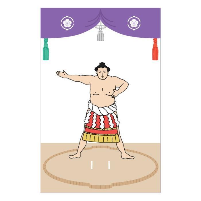 相撲 ポチ袋 横綱 2枚入り SUMOU-02 相撲 力士 おとなのぽち袋 お年玉 ミニ封筒[税率10%] tokyo385