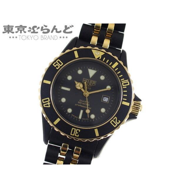 タグホイヤー TAG HEUER 1000シリーズ  腕時計 32mm 電池式 プロフェッショナル 200m 986.015N ブラック ゴールド ダイバーズ  101471761