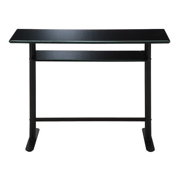 カウンターテーブル ガラス バーカウンター ダイニング カウンター 幅120 ブラック
