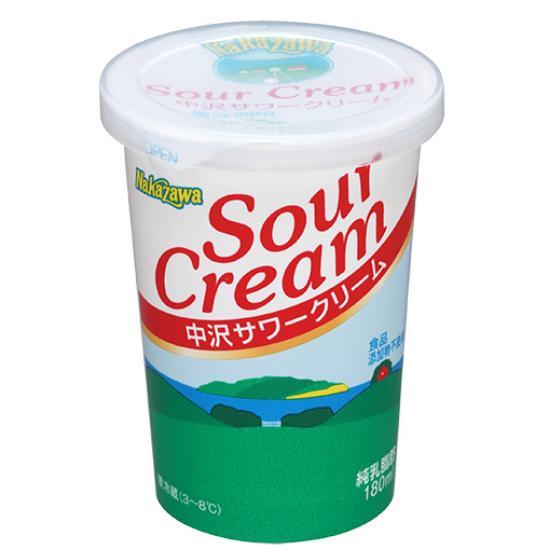 冷蔵便 出群 日本限定 中沢 サワークリーム 180ml 富澤商店 cuoca TOMIZ