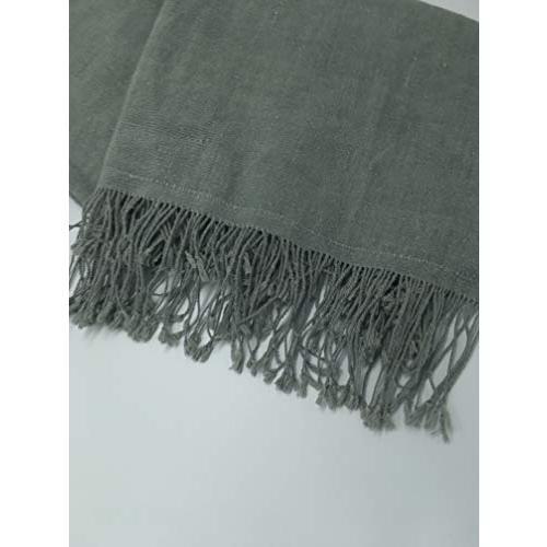 GBJWブータン産ストール18008 Indigo Wild silk(野蚕) 80% Cotton 20% tomotomoselectshop 02