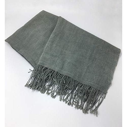 GBJWブータン産ストール18008 Indigo Wild silk(野蚕) 80% Cotton 20% tomotomoselectshop 03