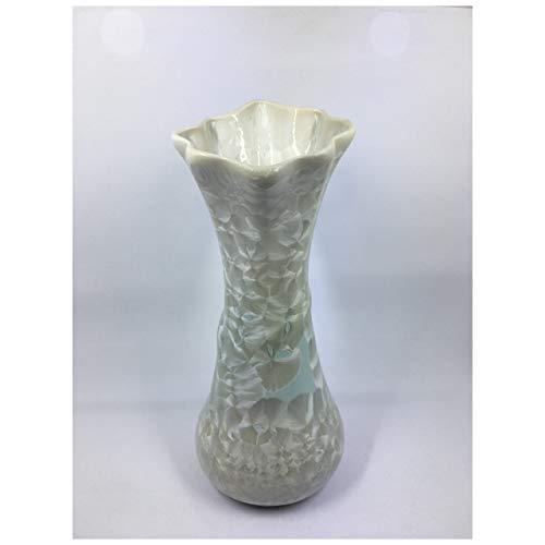 バッチャン焼き ホワイト&ペールグリーングラデーション花瓶(中) tomotomoselectshop