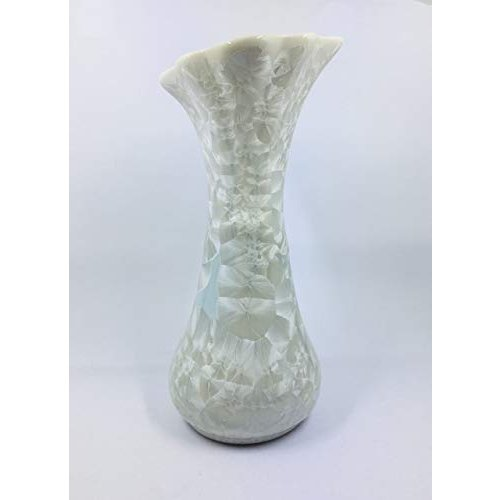 バッチャン焼き ホワイト&ペールグリーングラデーション花瓶(中) tomotomoselectshop 04