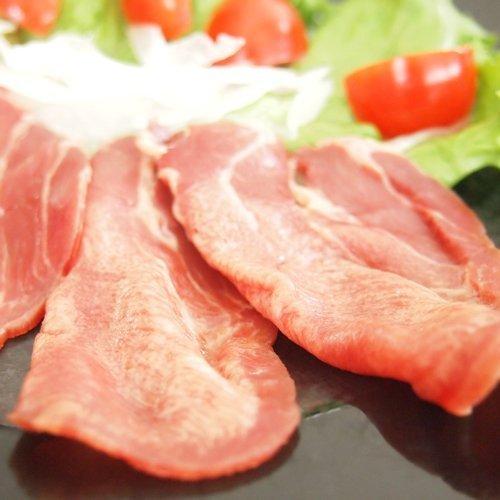 極旨 牛タン生ハム スライス 100g 生ハムサラダ、パスタ、生春巻き、カルパッチョにもオススメ 牛刺し、ユッケもご用意しております (10