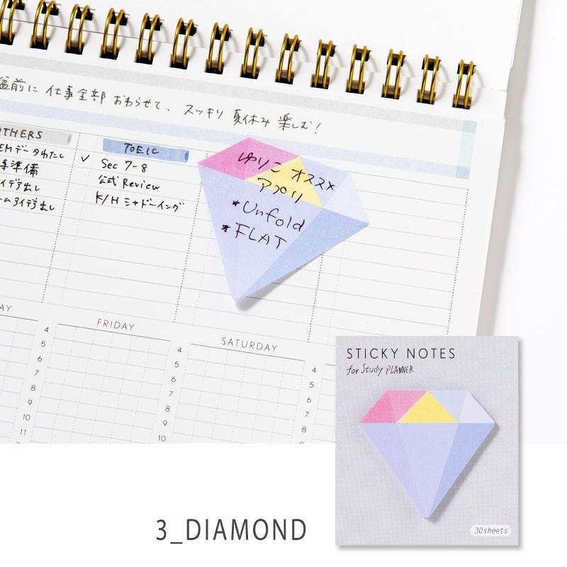 スタディプランナー ふせん STICKY ROLL STUDY PLANNER 手帳 勉強 計画 受験 韓国 ステーショナリー スケジュール かわいいおしゃれ ピンク (gsn)|tonary|04