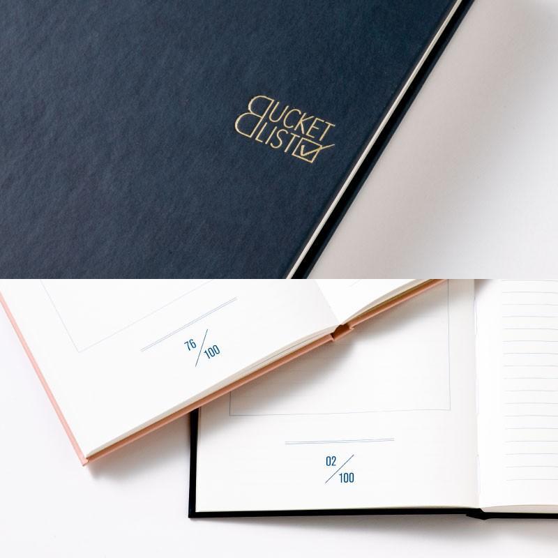 【3冊までメール便可】バケットリスト BUCKET LIST 人生でしたい100のことを書くノート to do パスポル paspol 手帳 夢 旅 人生 PBN tonary 07