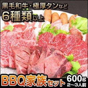 焼肉 セット 国産 国産牛 バーベキュー 肉 黒毛和牛 カルビ bbq 家族セット 600g|tonkai