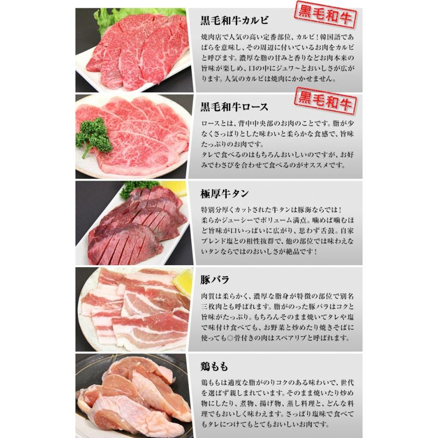 焼肉 セット 国産 国産牛 バーベキュー 肉 黒毛和牛 カルビ bbq 家族セット 600g|tonkai|02