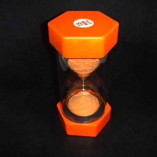 VStoy シンワ測定 砂時計 15ミニッツグラスサンドタイマーオレンジの砂時計15分計