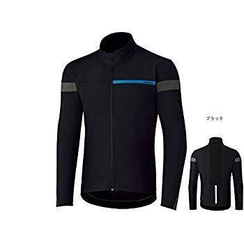 シマノ(SHIMANO) ウインドブレーク ジャージ 秋冬用サイクリングウェア ECWJSPWQS22ML4 ブラック L