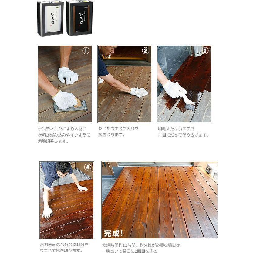 アールジェイ 木材保護塗料 いろは カラー 0.8L |tool4u