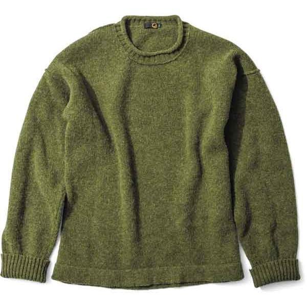 緑 clothing グリーンクロージング British Wool Sweater Olive【スノーボード】【セーター】【ミッドレイヤー】