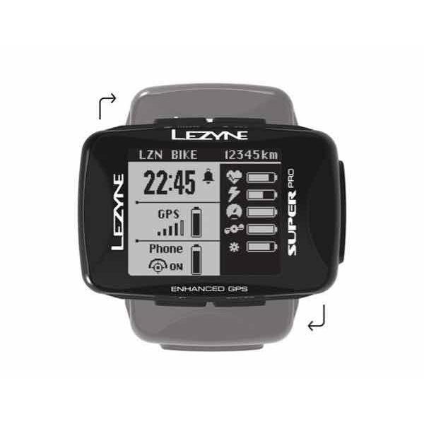 LEZYNE レザイン SUPER PRO GPS【サイクルコンピュータ】【USB充電】【自転車】【日本国内正規販売モデル】【スマートフォン連動】【ナビゲーション】|toolate
