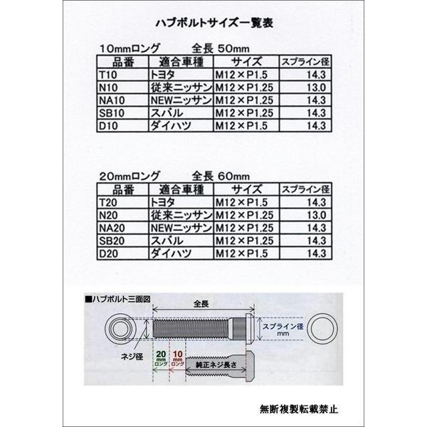 ロングハブボルト ダイハツ 10mm 延長 交換 toolshop-dream 02