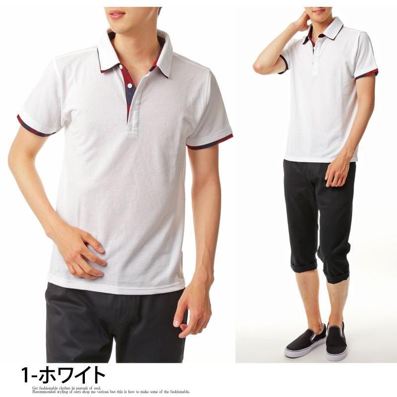 ポロシャツ メンズ 半袖 無地 ポロシャツ 鹿の子 チェック ビズポロ ビジネス Tシャツ 衿 襟 トップス メンズファッション|topism|13