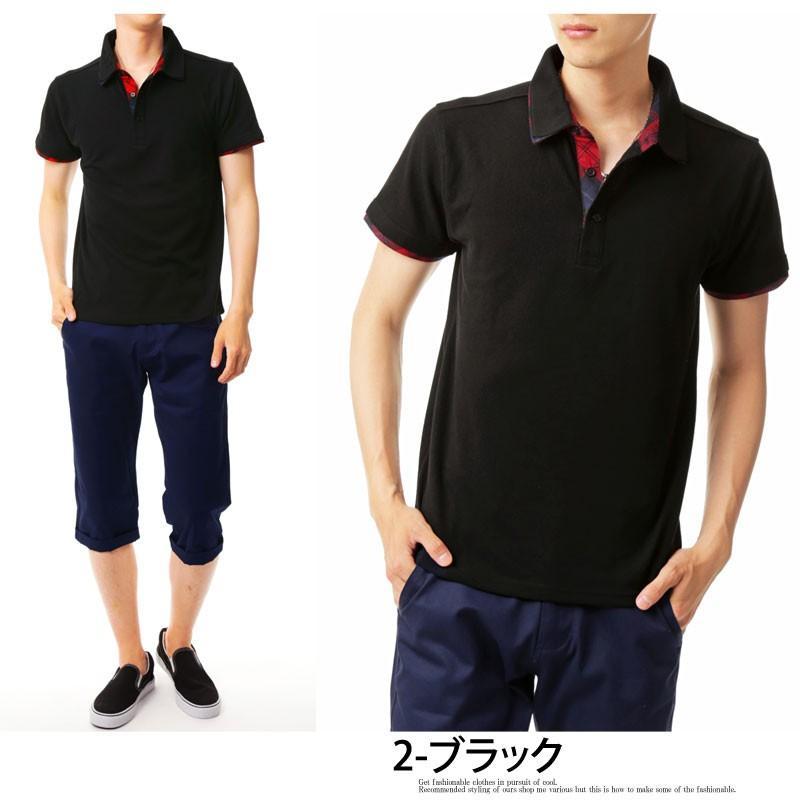 ポロシャツ メンズ 半袖 無地 ポロシャツ 鹿の子 チェック ビズポロ ビジネス Tシャツ 衿 襟 トップス メンズファッション|topism|14